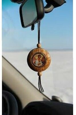 Rotating double-sided icon Russian Orthodox  icon guardian for driver in the car