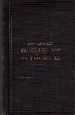 Rand McNally Industrial Map United States American Industries Business History