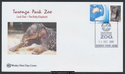 14-Dec-2009 Australia Taronga Park Zoo PStamp Wesley Souvenir Covers set of 5