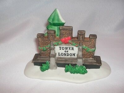 Department 56 Tower Of London Sign, Part Of Dickens Village Historical, #58500