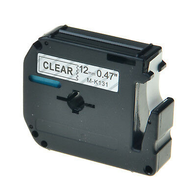 1PK M-K131 MK131 Black on Clear 0.47'' Label Tape For Brother P-Touch PT-70BBVP