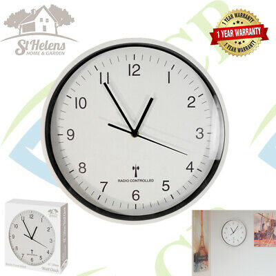 Wall Mounted 30cm Radio Controlled Clock Automatic Time Changing UK & Ireland