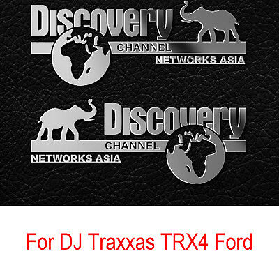 For Land Rover Defender Traxxas TRX4 Ford Cherokee Discovery Metal Logo Sticker