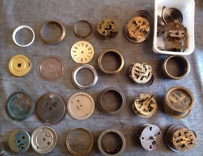 Antique Alarm Clock Parts Bezels Cases Movements Repair Spare Parts