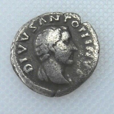 Collectable Denarius Of Marcus Aurelius Roman Silver - Head Of Antoninus Pius