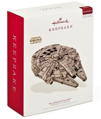 Hallmark 2018 Star Wars Millennium Falcon Storytellers Ornament, Light & Sound