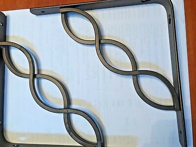 "8""H Bronze Steel Celtic Scroll Shelf Bracket LOT OF 2 NWT Wall Shelves"
