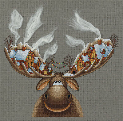 "Counted Cross Stitch Kit PANNA ZM-7103 - ""Christmas Moose"""