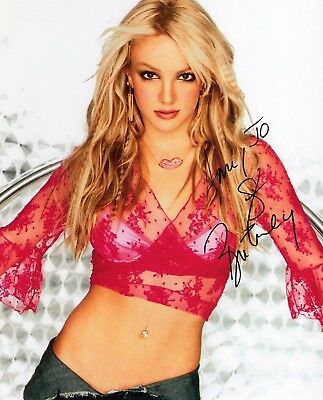 BRITNEY SPEARS Signed Autographed 10x8 Photo w/COA