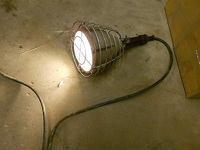Vintage Industrial Proof  Drop Work Light Stewart R Browne Steampunk Lamp NYC