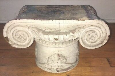 Art Nouveau Victorian Terra Cotta Salvaged Architectural Column Pedestal