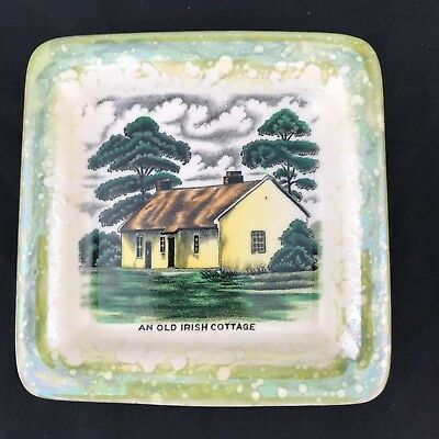 Vintage Gray's Pottery Small Pin Dish  'an Old Irish Cottage'