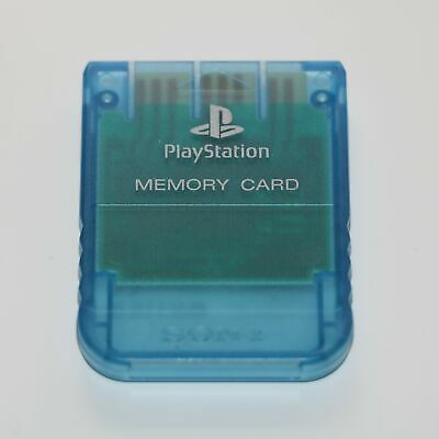 Official Sony 1Mb Memory Card Ps1 Psone Playstation Transparent Blue - Scph-1020