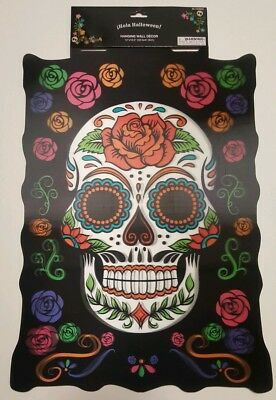 Sugar Skull Day Of The Dead Wall Art Poster Halloween Decoration NEW