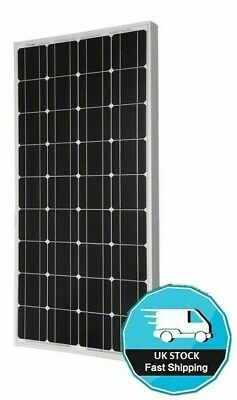 125 WATT MOTORHOME CARAVAN RV CAMPER VAN SOLAR PANEL + Mounts / Brackets 125w