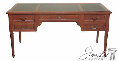 29982EC: GRANGE French Style Cherry Leather Top Desk