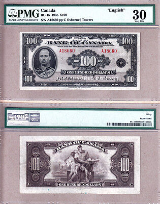 PMG CH VF30 1935 $100; Bank of Canada Prince Henry English Version, BC-15
