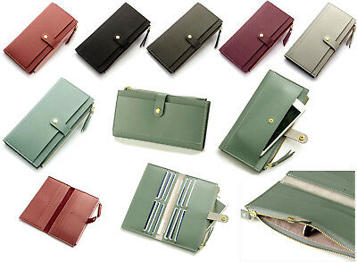 Ladies Purse Wallet Womens Purses Leather Clutch Card Holder Bifold Money Phone