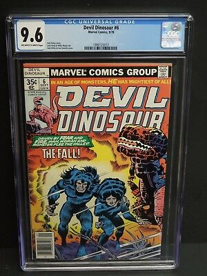 Marvel Comics Devil Dinosaur #6 1978 Cgc 9.6 Ow/w Pages