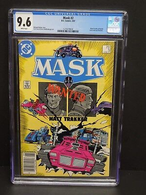 Dc Comics Mask #5 1987 Cgc 9.6 White Pages Label Error Newsstand
