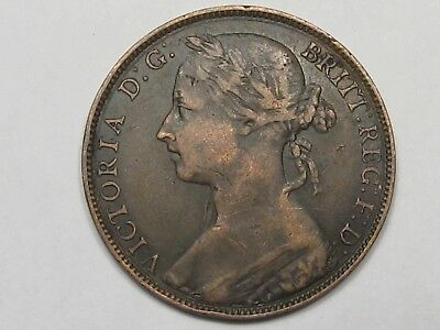 VF 1882-H Great Britain Penny.  #11