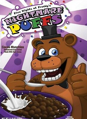 NEW Sealed Five Nights at Freddy's Nightmare Puffs Exclusive Cereal