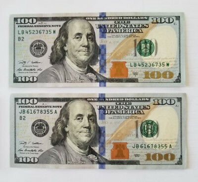 $100 Dollar Bills Federal Reserve Notes Series 2009A - Uncirculated