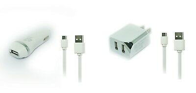 2.1A Wall AC Home+Car Charger+5ft USB Cord for Verizon Samsung Convoy 3 SCH-U680