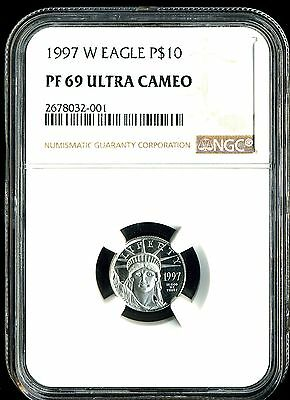 1997-W P$10 Proof Platinum American Eagle PF69 Ultra Cameo NGC 2678032-001