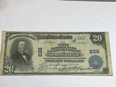 Springfield Ohio, first national bank and trust co . 1902 PB  fine
