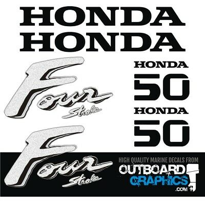 Honda 50hp 4 stroke outboard engine decals/sticker kit