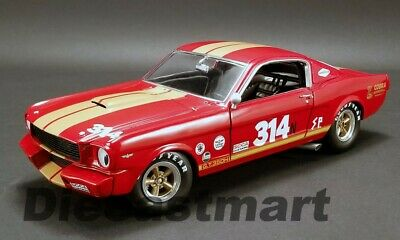 Acme 1:18 Ford Mustang Shelby Gt350 H #314 Rent A Air Racer 1966 Rot A1801823