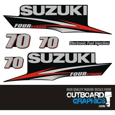 Suzuki DF70 four stroke outboard engine decals/sticker kit