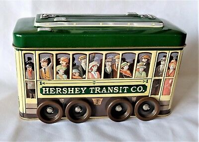 2002 Hershey Transit Co. Vehicle Series Canister Tin #3 Trolley Wheels Move