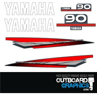 Yamaha 90hp 2 stroke outboard decals/sticker kit