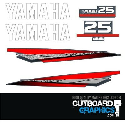 Yamaha 25hp 2 stroke outboard engine decals/sticker kit