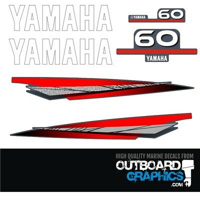 Yamaha 60hp 2 stroke outboard engine decals/sticker kit