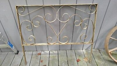 Vintage MidCentury Modern Architectural Salvage Porch Patio Railing Ornate Metal