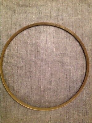 "Antique Wall Clock Brass Bezel 12"" Diameter"