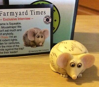 NIB! Harmony Kingdom Ball POT BELLYS Figurine Mouse SQUEAKIE Gift Trinket Box
