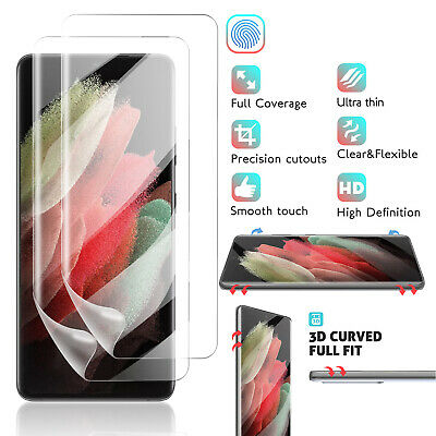 For Samsung Galaxy S9 Plus/Note 9/8 Ring Holder Stand Case With Screen Protector