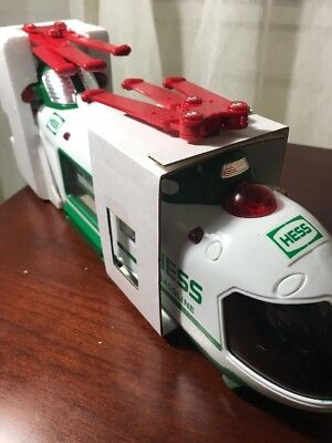 2001 Hess Helicopter with Motorcycle and Cruiser NEW IN BOX