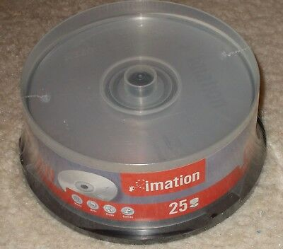 25 per pack CD-RW Re-writable Media Imation 700mb Sealed New Unopened