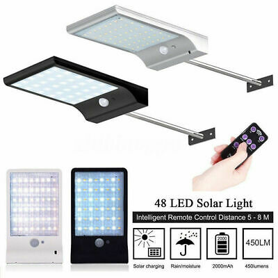 48 LED Solar Light IP65 PIR Motion Sensor Wall Street Lamp for Patio Path Garden