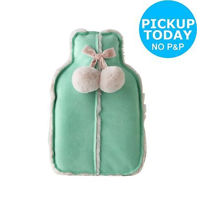 Green and Pink Hot Water Bottle