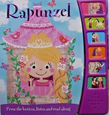 Rapunzel Sound Book Press The Button Listen & Read Along Kids Ages 0 Month+ to 4