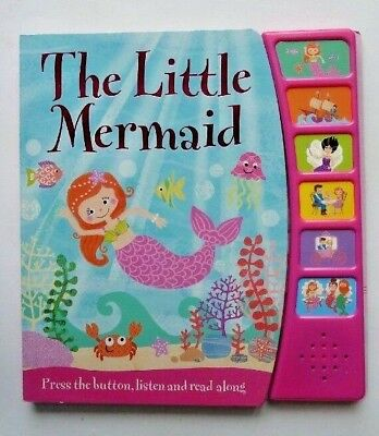 The Little Mermaid Sound Book Press The Button Listen & Read Along Ages 0 Month+
