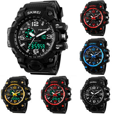 SKMEI Men Sport Watch 50m Waterproof Date Calendar LED Electronic Wristwatch