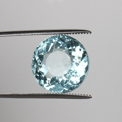 22.80 Ct. Natural Aquamarine Greenish Blue Color Round Cut Certified Loose Gems