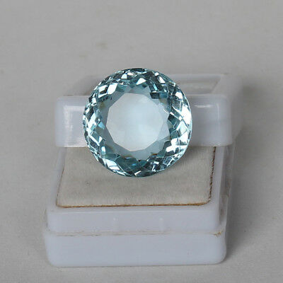 20.65 Ct. Natural Aquamarine Greenish Blue Color Round Cut Certified Loose Gems